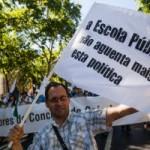 Milhares de professores em manifestação e promessa de grande greve