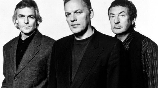 Richard Wright, David Gilmour e Nick Mason (da esquerda para a direita).