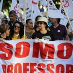 Sindicatos de professores chocaram contra o Governo