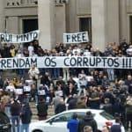 Combate à corrupção: centenas de pessoas pedem libertação de Rui Pinto